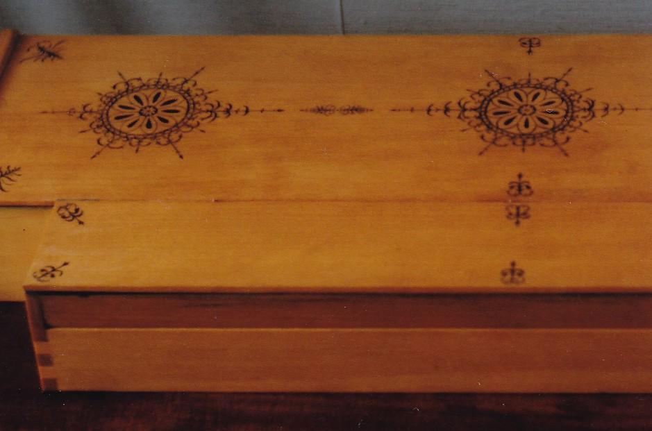 1983 Clavichord after van Hemessen 1537 detail